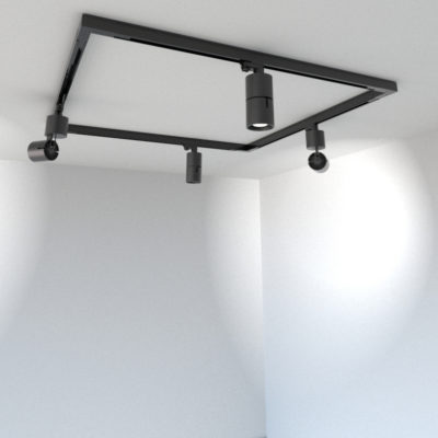 Aeon Galeria Square Track Lighting Kit