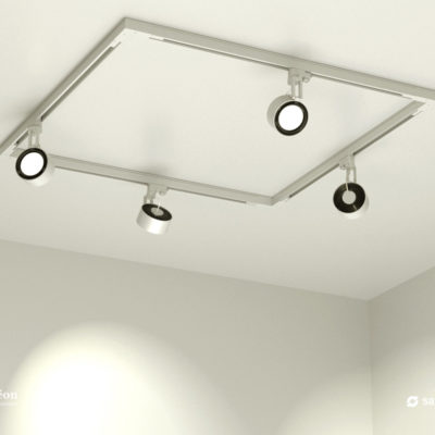 Aeon Occulare Square Track Lighting Kit