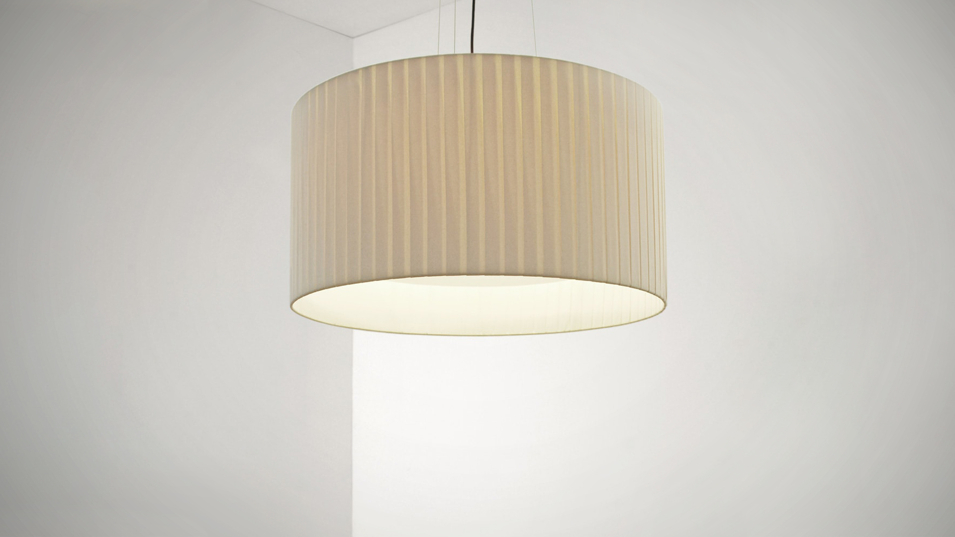 Image of: Bound Drum Pendant Lights Satelight Design